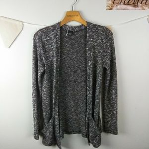 Sparkle & Fade Open Cardigan Sweater